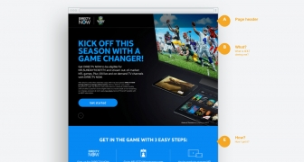 NFL Sunday Ticket TV Landing Page
